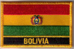 Bolivia Embroidered Flag Patch, style 09.